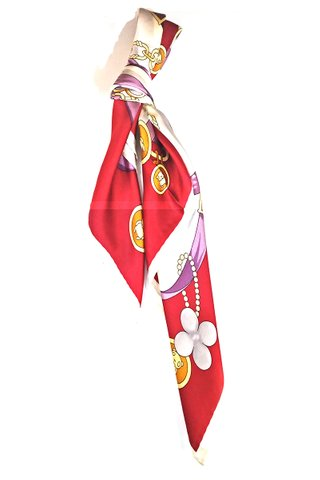 100% Silk Square Scarf Smooth and Soft Female 10