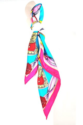 100% Silk Square Scarf Smooth and Soft Female 13